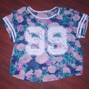 Sheer Floral Crop Top 💮🌹🏵💐
